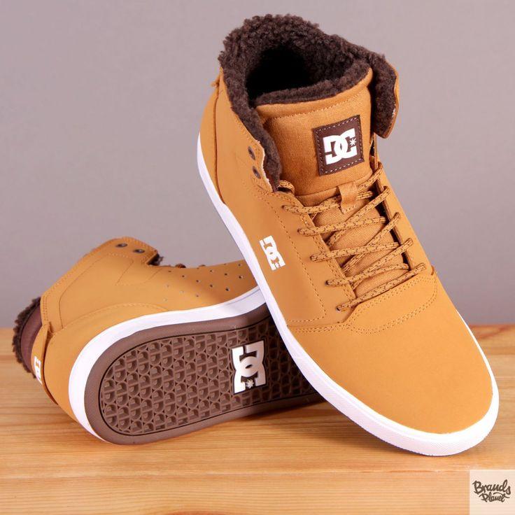 Męskie buty zimowe ocieplane za kostkę DC Crisis High WNT Wheat / www.brandsplanet.pl / #dc shoes #skateboarding