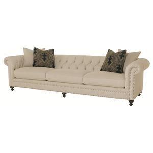 Bernhardt Riviera Sofa With Tufted Back And Nailhead Trim