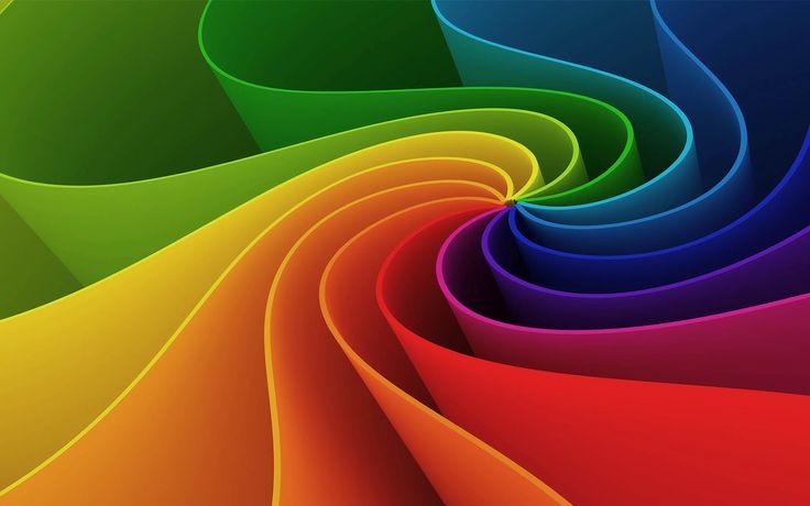 Abstracte wallpaper met felle kleuren   Achtergrond Wallpapers