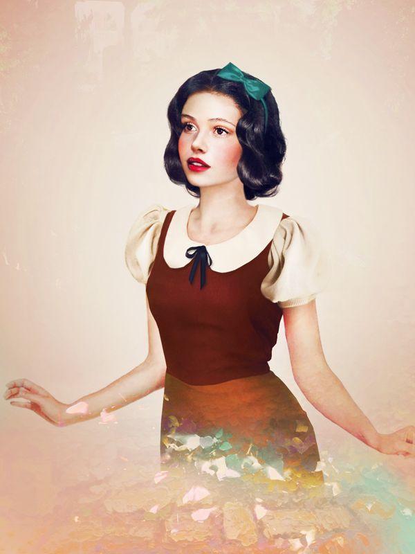"Realistic portrait of Snow White from the Disney movie ""Snow White and the Seven Dwarfs"", by Jirka Vinse Jonatan Väätäinen"