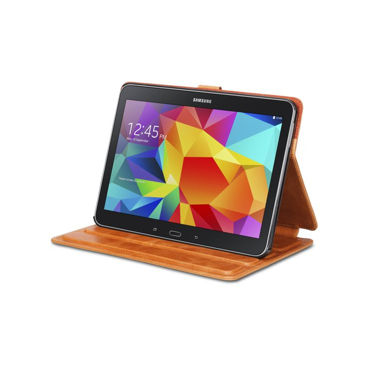 """""""Copenhagen"""" has a built in stand with 4 viewing angles and a soft interior lining protecting your Galaxy Tab against scratches!"""