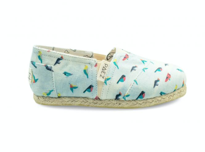 PAEZ KIDS Espadrilles - Birds Canvas (Gr. 27-33)
