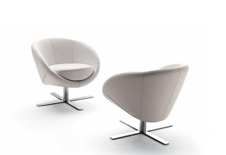 Кресло вращающееся обитое кожей или текстилем Boule, Bosal