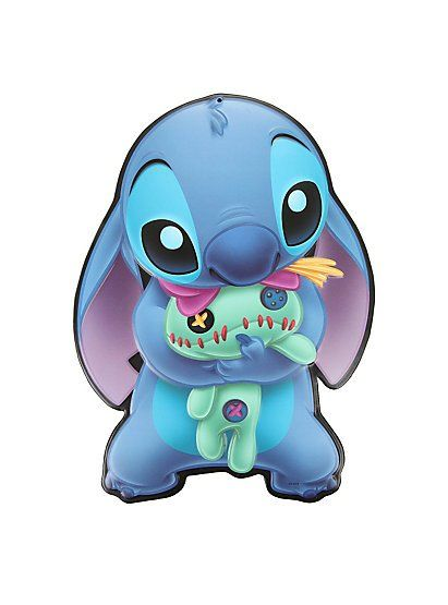 "Disney Lilo & Stitch - Stitch & Scrump 11 ¾"" x 8 ½"" Collectible Tin Sign by Open Road"