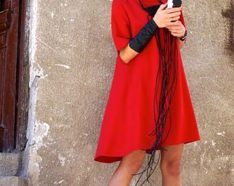VENDITA nuova collezione Sexy Little Red Dress / rosso abito stravagante sciolto abito / vestito da partito / Daywear Abito da AAKASHA A03220