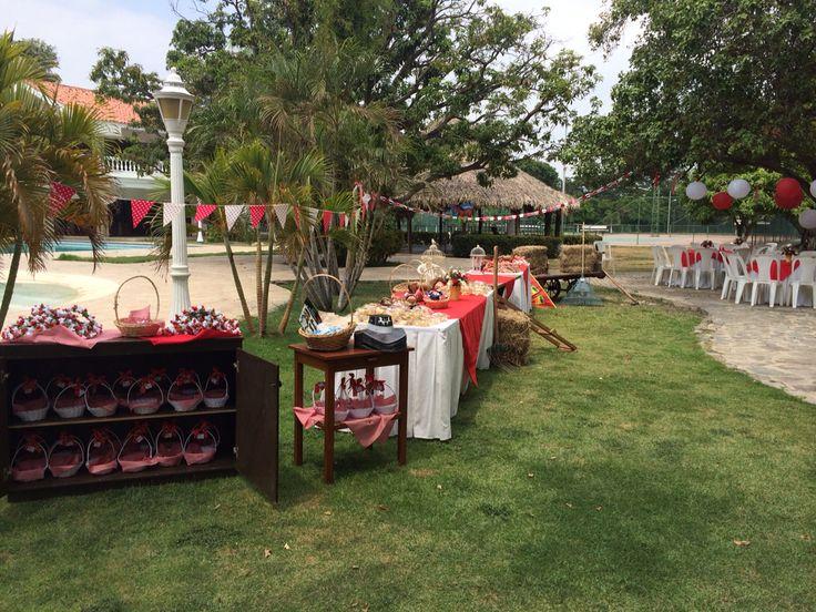 Decoración al aire libre. picnic