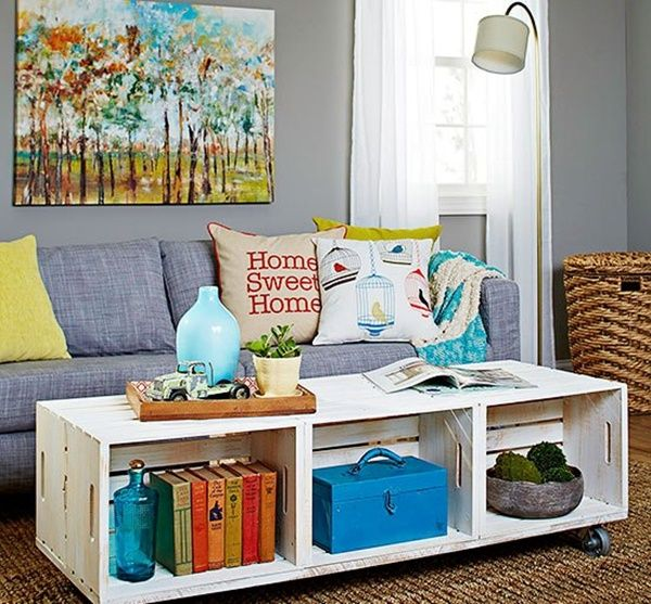 Unique DIY Coffee Table Ideas That Offer Creative Style and Storage. tag: coffee table ideas for small living room, coffee table ideas for small spaces, coffee table ideas family room, coffee table ideas on a budget, coffee table leg ideas, vintage coffee table ideas. #DIY #coffeetable