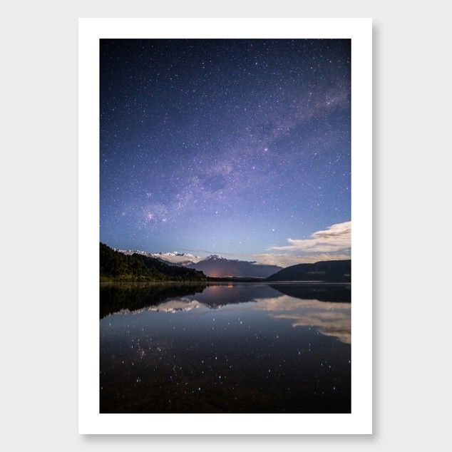 Lake Mapourika Photographic Print by Mike Mackinven Click here: http://www.endemicworld.com/lake-mapourika-photographic-print-by-mike-mackinven.html
