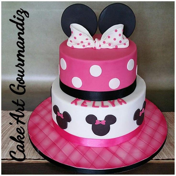 Gâteau d'anniversaire Minnie Mouse #minniemousecake #minnie #minniemouse #gateauminnie