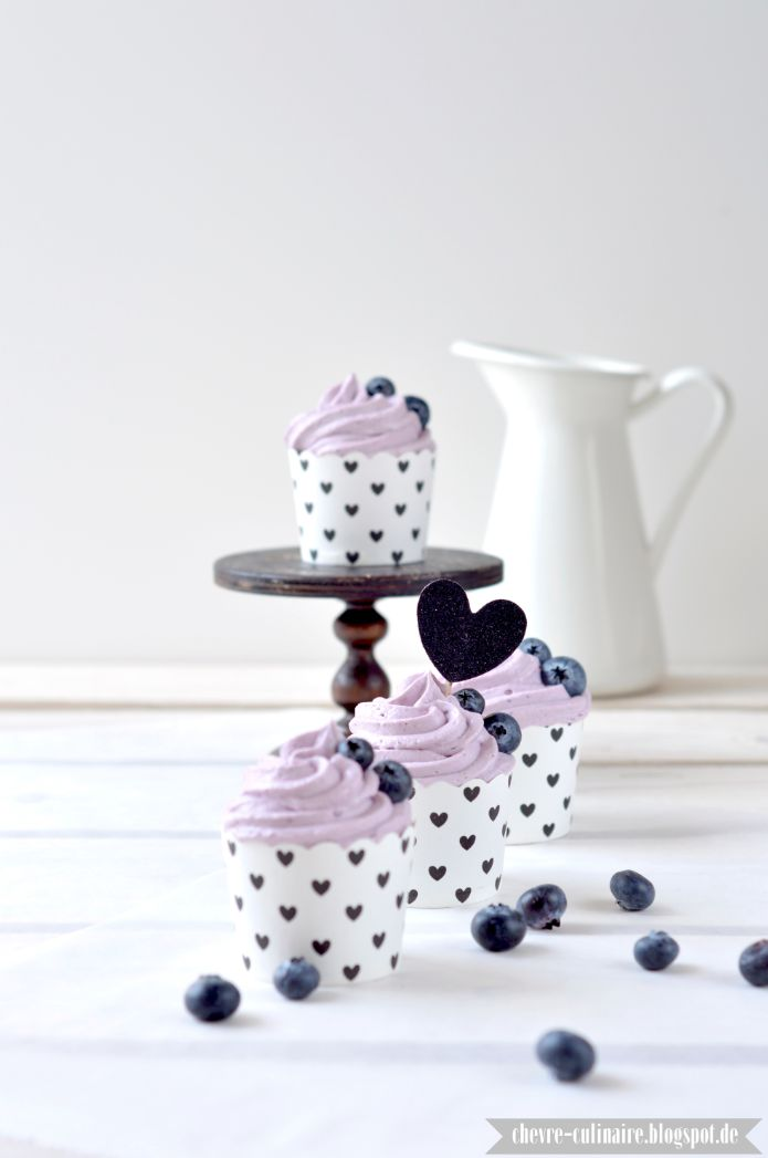 Chèvre Culinaire: Blueberry Cupcakes // Blaubeer Cupcakes