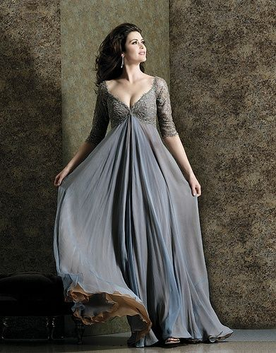mother of bride plus size dresses