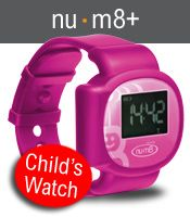 nu m8+ product - a child's digital watch which cannot be removed or deactivated without your knowledge. If this should happen an instant alert is sent straight to your phone and/or email with your child's location. No other child locator in the world can match this. Another great feature of nu.m8+ is the ability to set up a virtual fence as a 'safe zone'. If your child steps outside this zone you'll be notified.