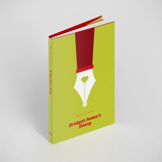 Çok satan kitapların yeniden tasarlanmış kitap kapakları. Sevdiğinize güzel bir hediye olabilir :) Bridget Jones'un Günlüğü, Helen Fielding