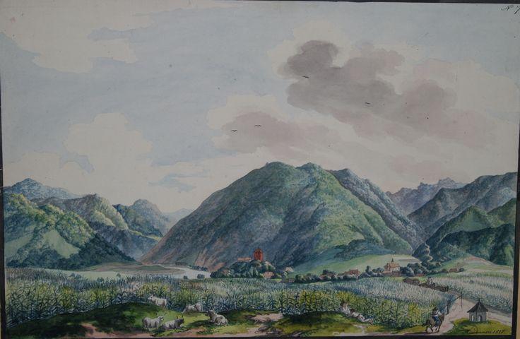 Franz Neuhauser the Younger - Valea Oltului cu Turnu Roşu