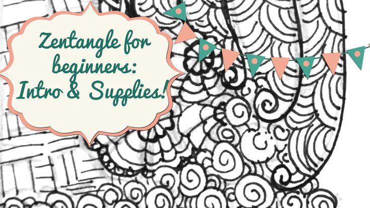 Zentangle For Beginners: Intro & Supplies!