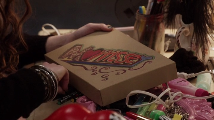 Dorrit's box for Morrissey the hamster - The Carrie Diaries 1x03