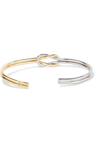 KENNETH JAY LANE  Gold and rhodium-plated cuff  Slips on