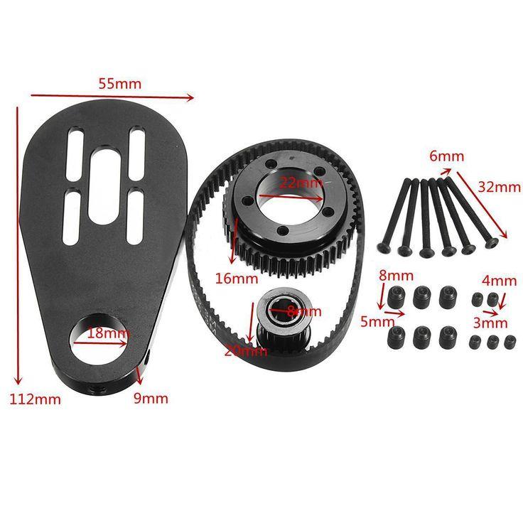 Mayitr Electric Skateboard Motor Pulley Mount Accessories Belt Kit for 72mm 70mm Wheels Stainless Steel Skate Board Pulley