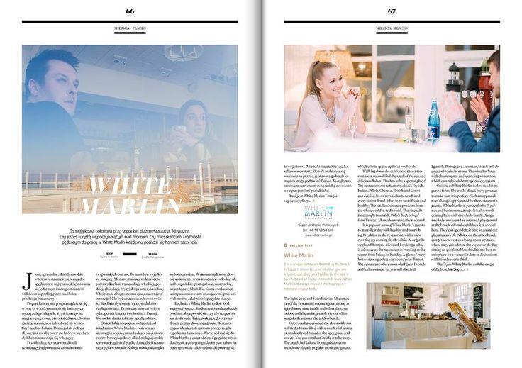 W kwietniowym numerze Live&Travel możecie przeczytać artykuł o White Marlin www.whitemarlin.pl