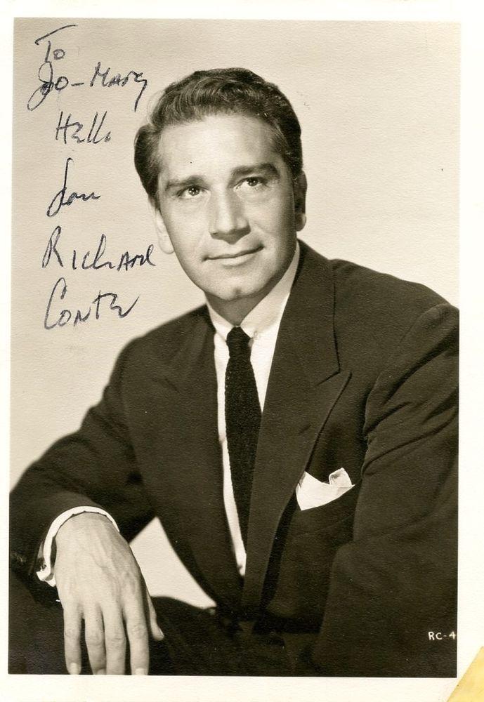 RICHARD CONTE HAND SIGNED & INSCRIBED Vintage 5x7 PHOTOGRAPH | Entertainment Memorabilia, Autographs-Original, Movies | eBay!