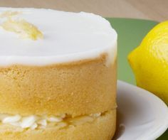 Homemade Lemon Sponge Cake Recipe- This looks delicious and would be a great recipe to add fruit to