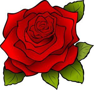 Rosa | Rose by @Maureen, Una rosa roja que dibuje para una amiga.A red rose I drew to a friend.