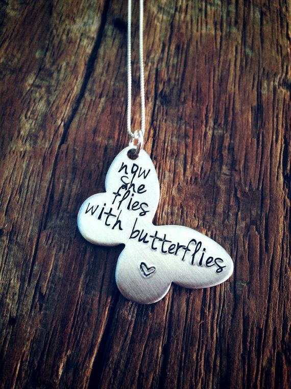 SALE Butterfly memorial necklace infant by PreciousPodsBySarahO