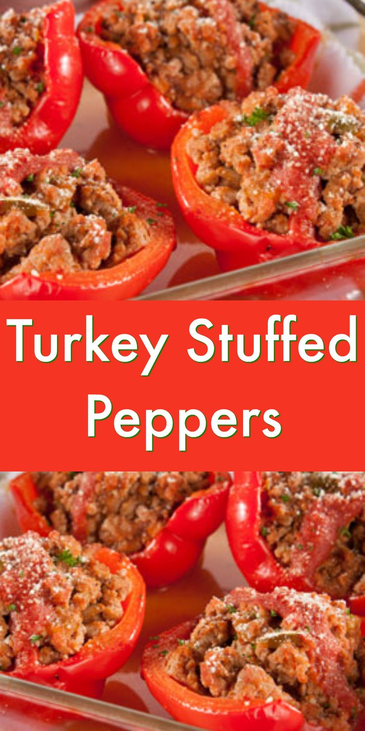 Ground turkey breast combined with salsa makes for the perfect filling for these tasty Turkey Stuffed Peppers!