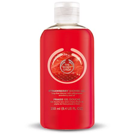 Strawberry Shower Gel - This soap-free shower gel contains real strawberry seed oil.