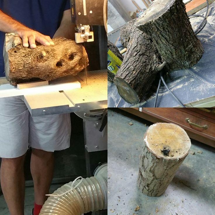 Calice in legno di Ulivo naturale Recipiente in legno