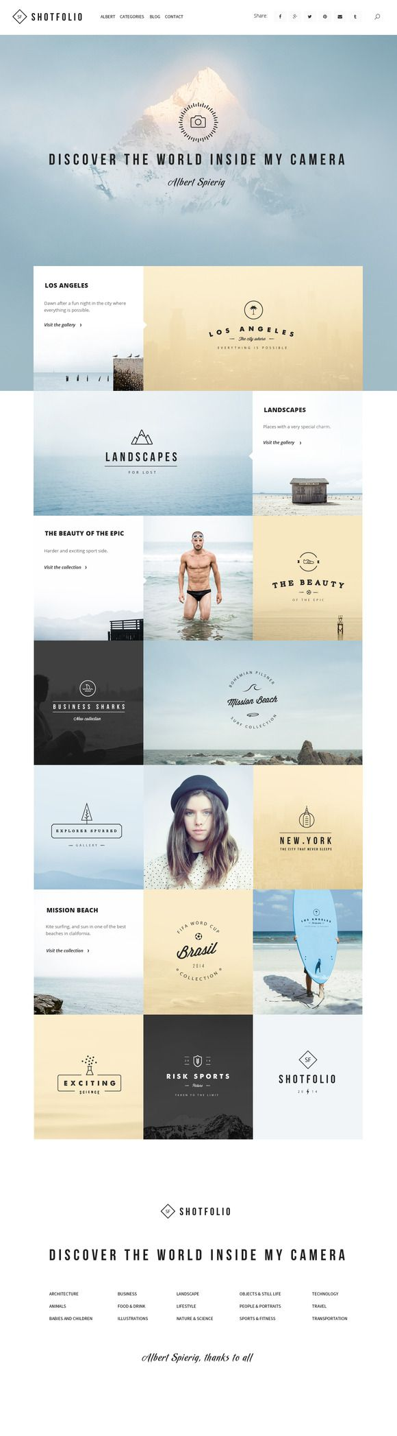Check out Shotfolio PSD Theme by Julian Shop on Creative Market