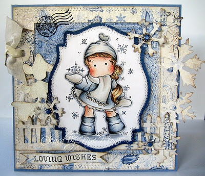 Snowflake Tilda from Magnolia stamps.
