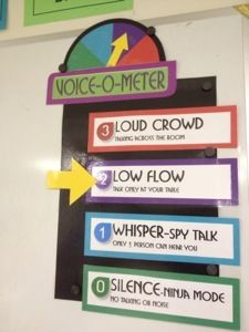 Voice-o-meter. Love the 'ninja mode!' Good for all levels.