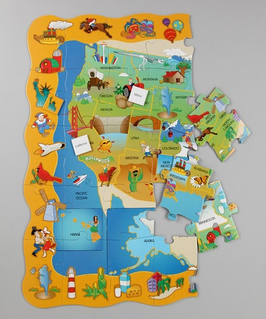 Usa Find It Floor Puzzle Learning Usa Puzzle