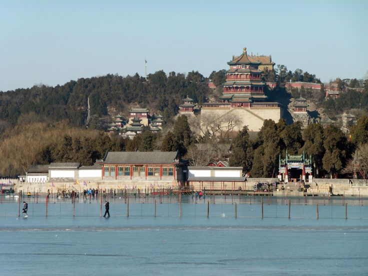 The Summer Palace, Beijing. Longevity Hill is about 60 metres high and built of the soil excavated from the man-made Kunming Lake,