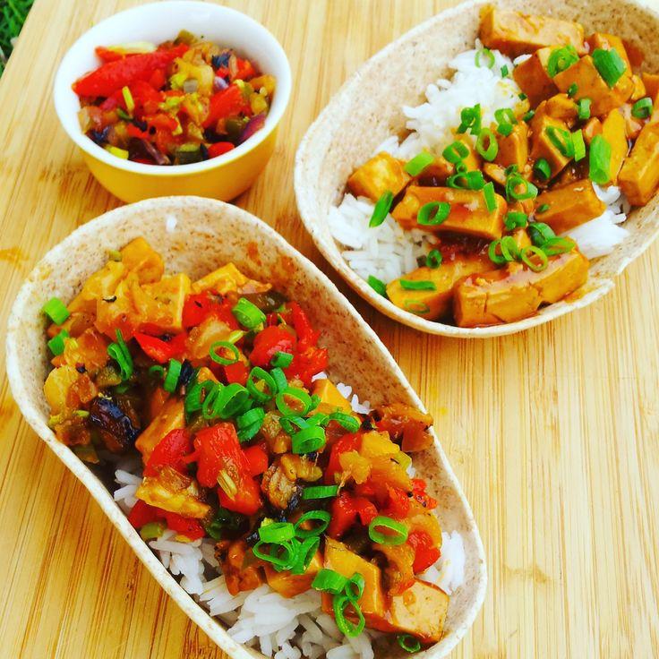 TERIYAKI TOFU WRAPS & PINEAPPLE SALSA - vegan from chunkyonchia.com