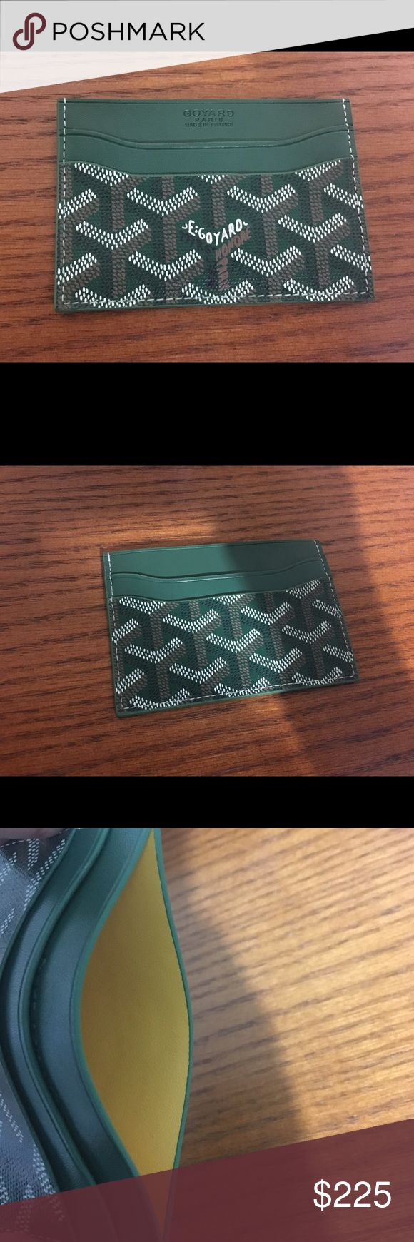 Goyard card holder Goyard card holder. Comes with box! USED but no noticeable signs of wear. Goyard Accessories