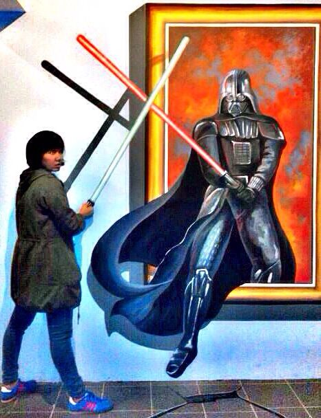 Dart Vader! #illusion #painting #3D #indonesia #dartvader #cool #malang #jatim #bns