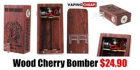 Wood Cherry Bomber $24.90 - http://vapingcheap.com/wood-cherry-bomber/