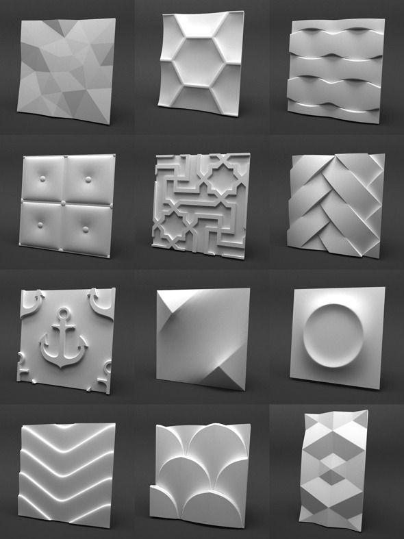 3d Gypsum Panels Collection – 3DOcean Item for Sale