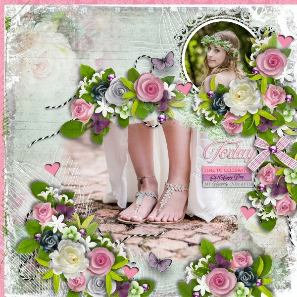 Template and Kit Love & Laughter by Heartstrings Scrap Art. Photos mine.