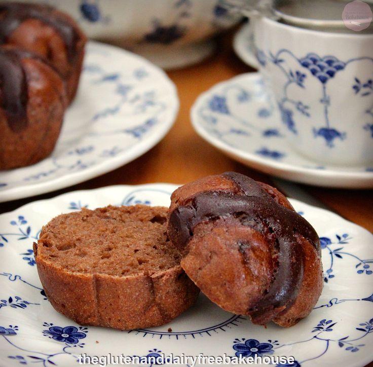 Chocolate Hot Cross Buns (gluten, dairy & nut free)
