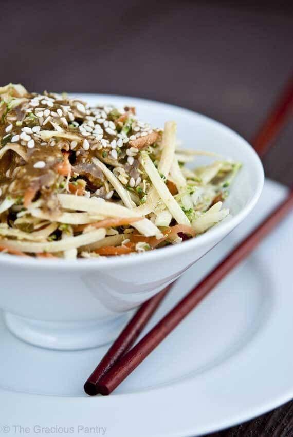 Clean Eating Raw Asian Broccoli Salad