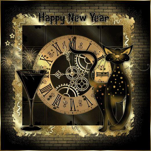 IMMAGINI GLITTER ORO BUON ANNO - HAPPY NEW YEAR GOLD - CheLaVitaContinua