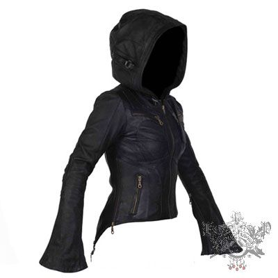 Jan Hilmer Zoom Leather Jacket  This Jan Hilmer Leather jacket is amazing. It has a great giant hood, large bell sleeves, great style lines on the chest (to eliminate that annoying uni-boob one may get from a leather jacket), with a tuxedo tail back that features many functional and stylish zippers.  After this size run, we will not be stocking this classic piece anymore. If you want but your size is not available, please contact us to arrange a special order.  $715.00