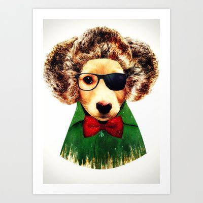 Dog ( Ben) Art Print by zumzzet - $15.00