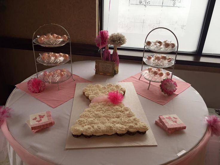 Cake table - Katie's shower