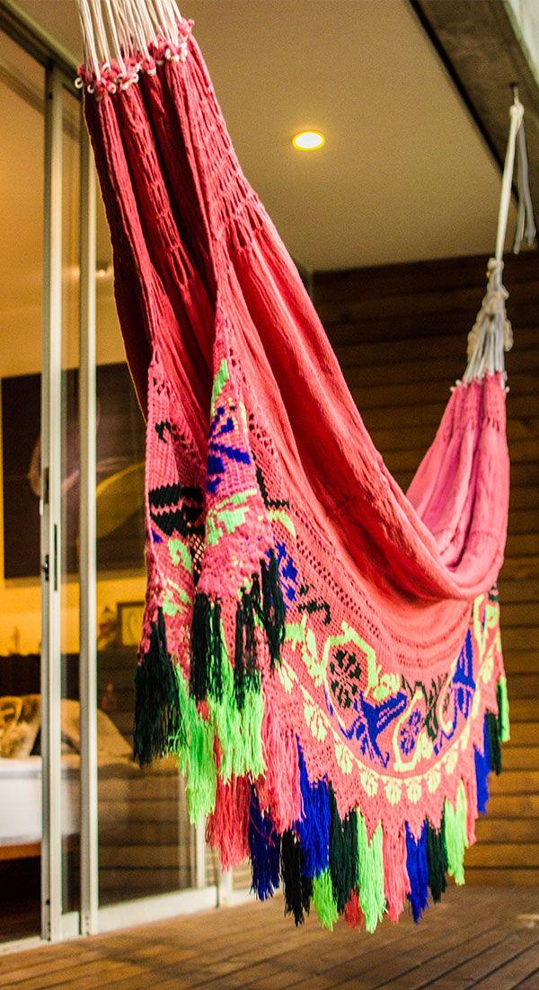 Wayuu Hammock Colibrí, Colorful Hammock, Handmade Hammock, Crochet Hammock. #wayuuhammocks #luxuryhammocks