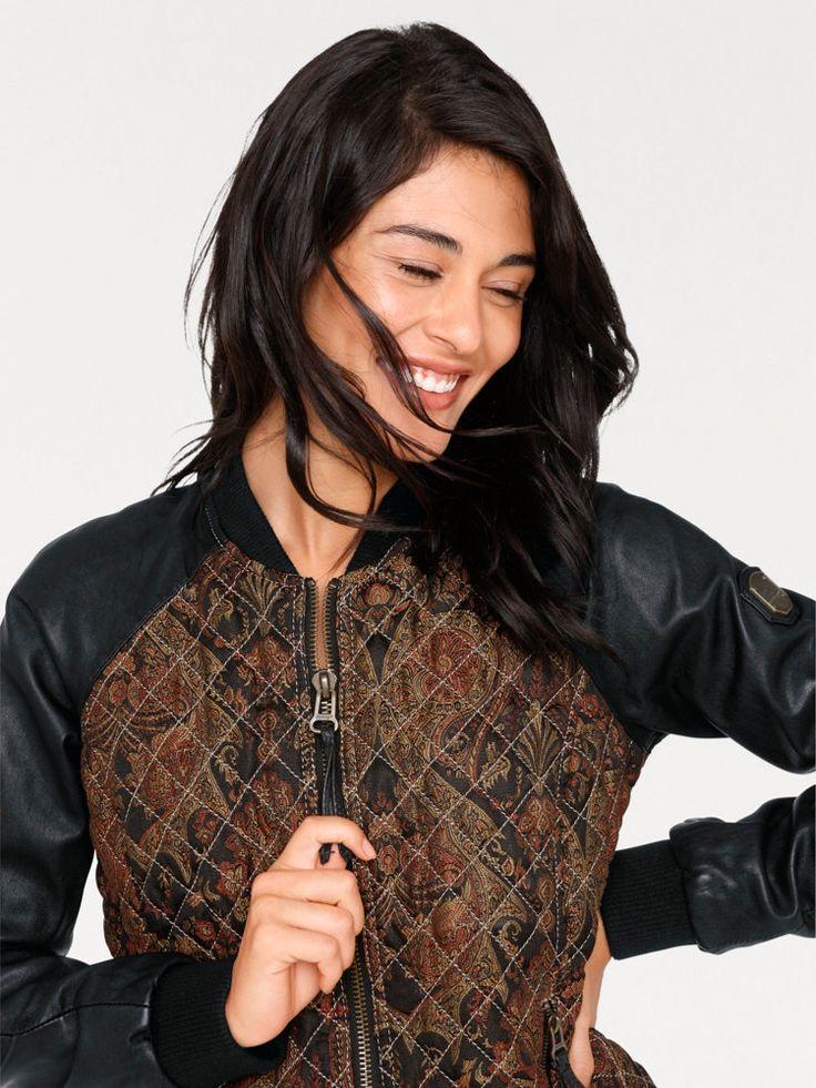 Jacke aus softem Nappaleder mit Paisley-Druck