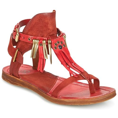 sports shoes 52892 ae18f Airstep / A.S.98 RAMOS Red Women Shoes Sandals,Airstep Women ...